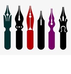 Pen nibs vector
