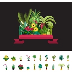 Florist shopplants compositionflower store flat vector