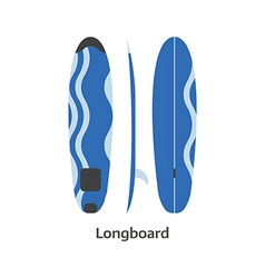 Longboard surfing desk vector