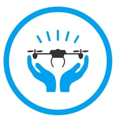 Air Drone Launch Hands Icon vector image