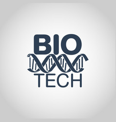 biotechnology logo icon design vector image