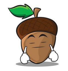 boring acorn cartoon character style vector image vector image