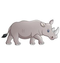 Cartoon rhino vector image