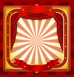 Circus frame poster background vector