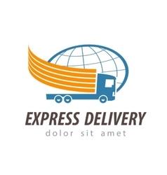 delivery logo design template shipping or vector image vector image