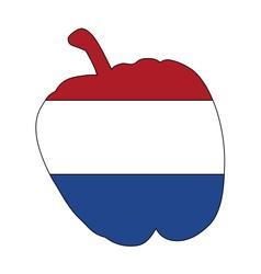 Dutch pepper vector