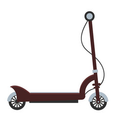 Electric scooter isolated roller scooter vector