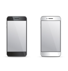 Empty screen smartphone templates on white vector