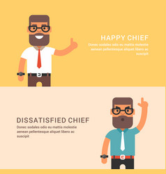 Expressions and emotions two horizontal web vector