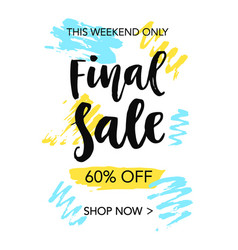Final sale mobile banner template vector