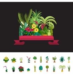 Florist shopPlants compositionFlower store flat vector image