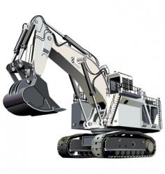 giant excavator vector image