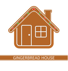 Gingerbread house isolated on white vector