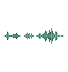 Green sound waves vector image vector image