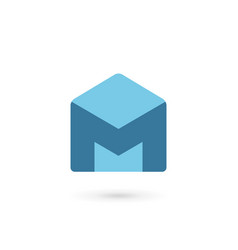 Letter m house icon design template elements vector