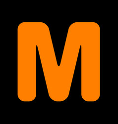 letter m sign design template element orange icon vector image