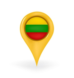 Location Lithuania vector image
