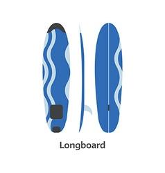 Longboard surfing desk vector