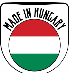 Made in Hungary rubber stamp vector image vector image