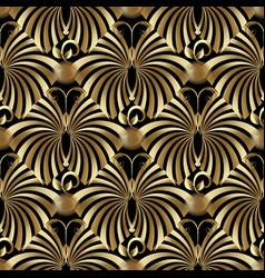 modern vintage gold butterflies seamless pattern vector image