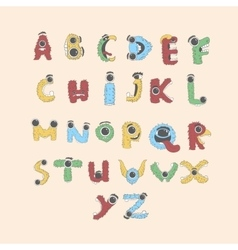 Monster english Alphabet shaped as monsters set vector image