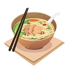 Noodle soup vector