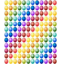seamless pattern easter eggs color spectrum vector image vector image