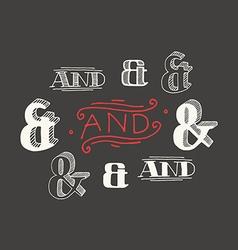 Set of decoration ampersands vector image