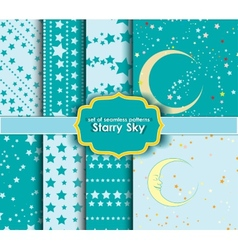 set of seamless patterns - Starry Sky vector image vector image