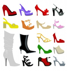 set of women shoes vector image vector image