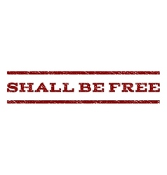 Shall be free watermark stamp vector