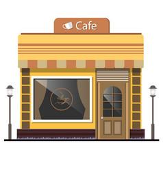 street cafe flat design concept vector image vector image