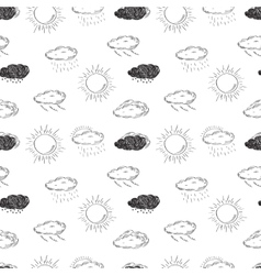 Weather symbols seamless pattern Sketch vector image vector image