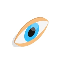 Eyes icon isometric 3d style vector