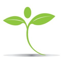 Green plant figure logo vector image