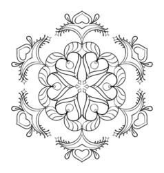 Zentangle snow flake elegant mandala for adult vector