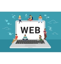 Web site surfing concept vector