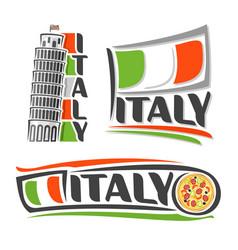 Logo for italy vector