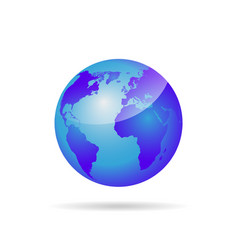 globe with world map vector image