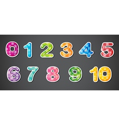 Eleven numerical figures vector