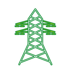 electric tower isolated icon vector image
