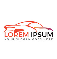 modern sports car logo design vector image
