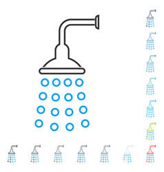 Shower stroke icon vector