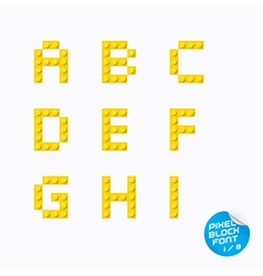 Pixel block alphabet vector