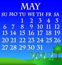 May 2012 landscape calendar vector