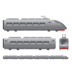 Passenger train vector