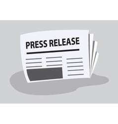 Press release written on newspaper vector