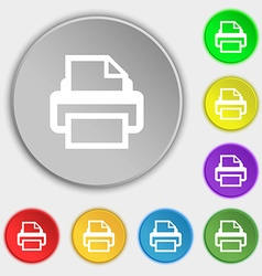 Print sign icon printing symbol symbols on eight vector