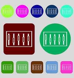 Dj console mix handles and buttons level icons 12 vector