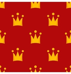 Little crowns royal seamless pattern vector